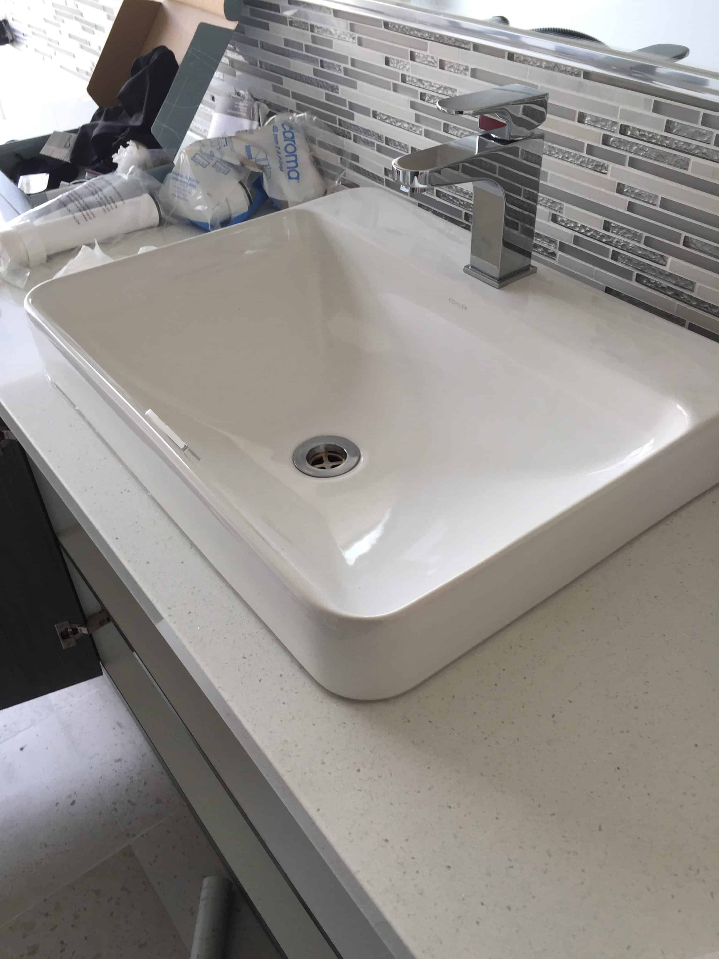 new sink fitting
